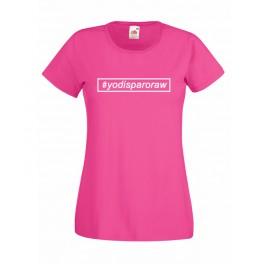 Camiseta mujer yodisparoraw fucsia